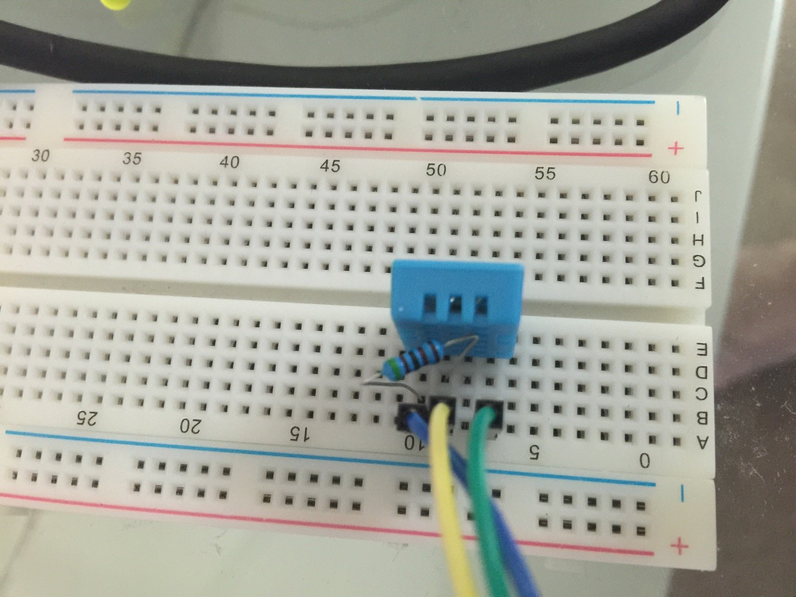 Connect A Dht11 Temperature Humidity Sensor To Raspberry Pi Gcits Circuit Wiring Diagrams Also Schematic Diagram On Breadboard