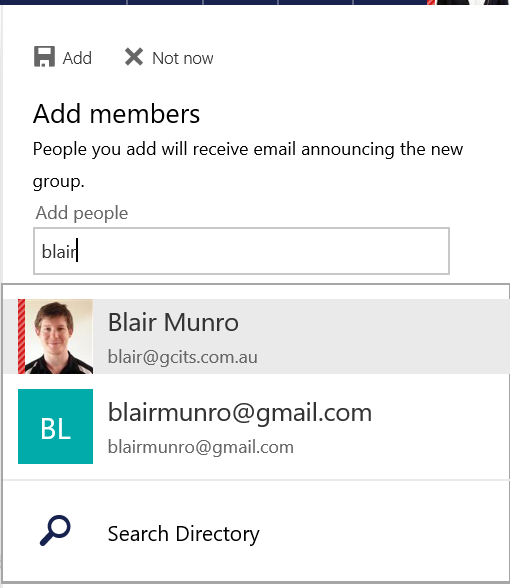 Add Members To Outlook Group