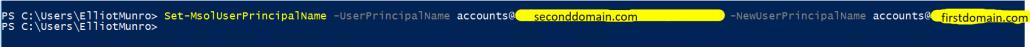 Changing UserPrincipalName To Correct Domain
