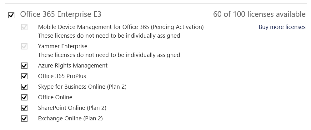Choose Office 365 License To Assign In Bulk