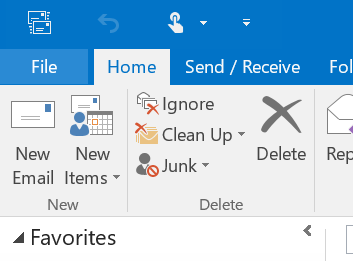 Click File To Add A Signature To Outlook 2016