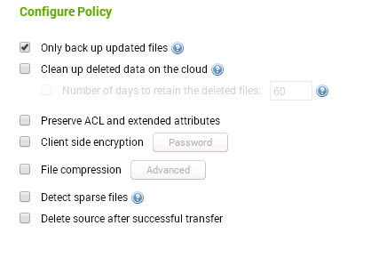 Configure Azure Backup Policy