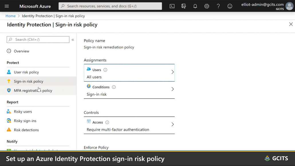 Configure Sign In Risk Policy In Azure Identity Protection