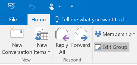 Edit Outlook Group In Ribbon