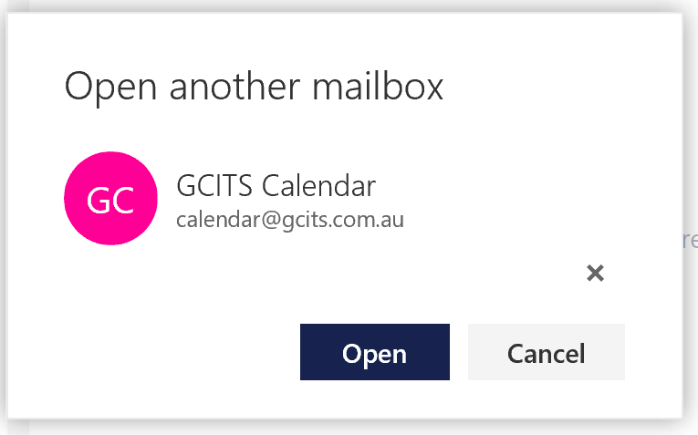 Enter The Office 365 Shared Mailbox Address And Click Open