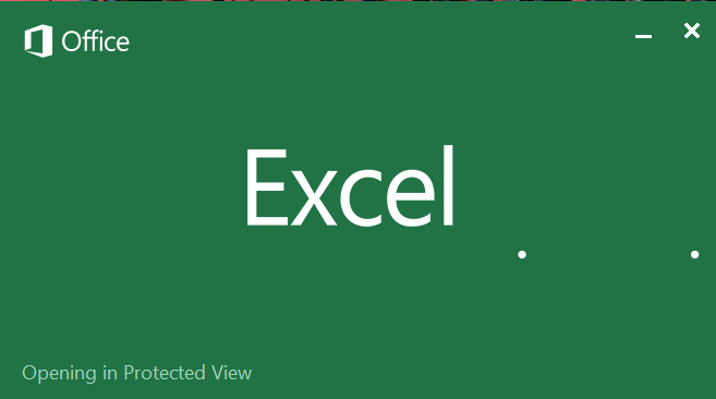 Excel Hangs While Opening In Protected View