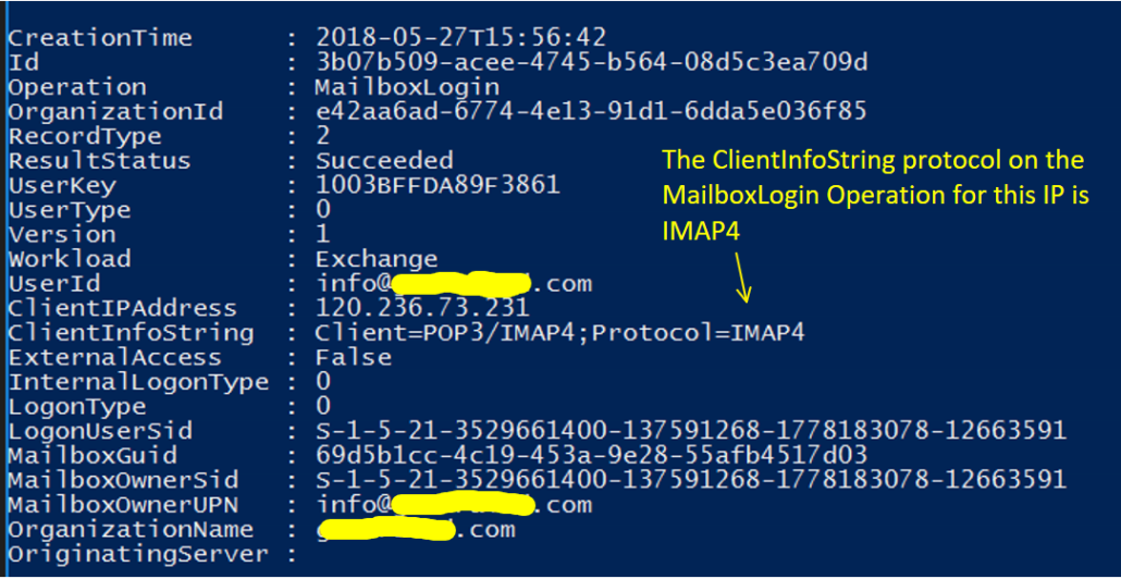 Hacker Using IMAP To Download Office 365 Email