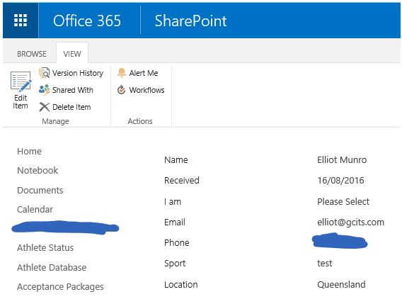 New Item In SharePoint