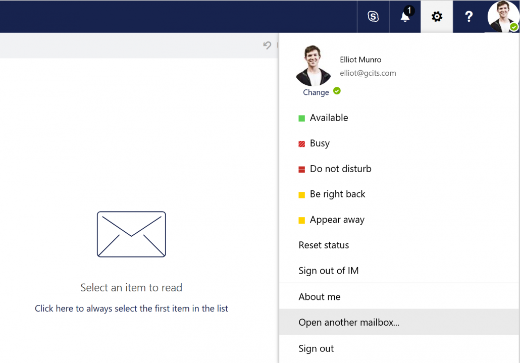 Open Another Mailbox To Configure The Shared Mailbox Out Of Office
