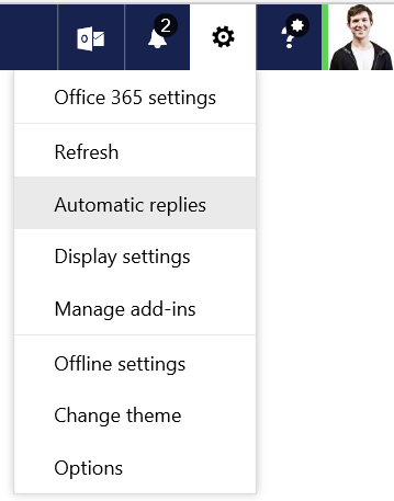 Open Automatic Replies In Office 365 Outlook Web App