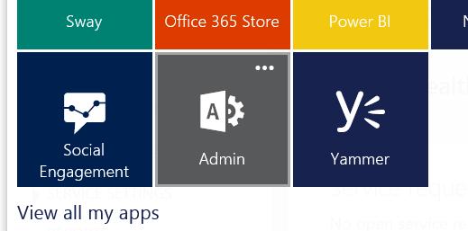 Open Office 365 Admin Center To Setup Branding