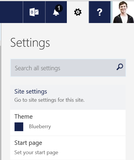 Open OneDrive Site Settings