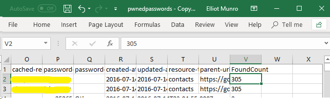 Pwned Password CSV
