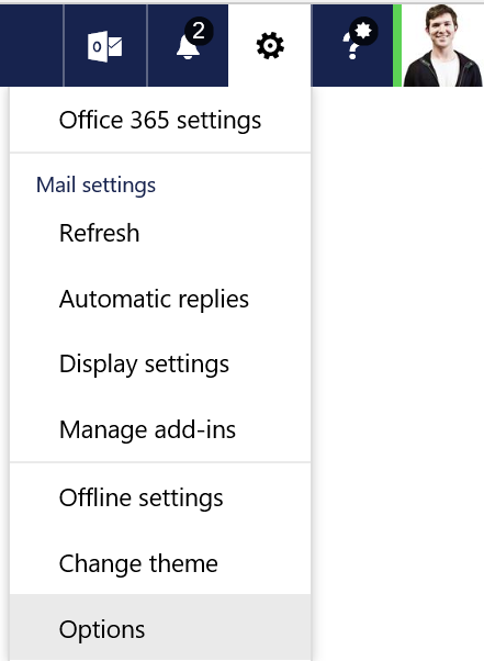 Set Up Office 365 Signature Via Options