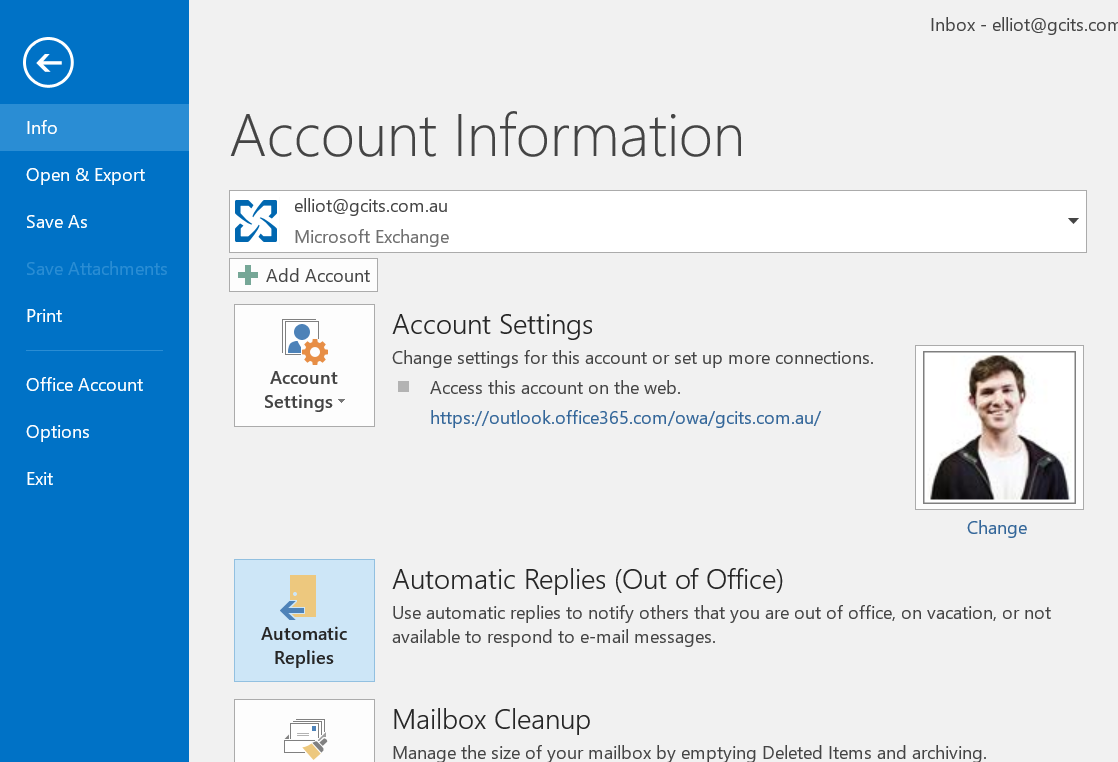 Outlook archives gcits - Set up out of office in outlook ...