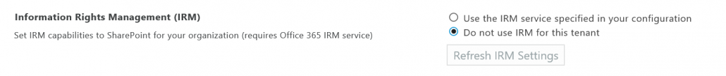 Use The IRM Service Specified In Your Configuration