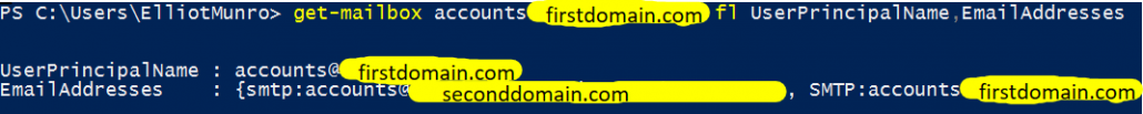 UserPrincipalName Is Correct EmailAddresses Still Need Changing
